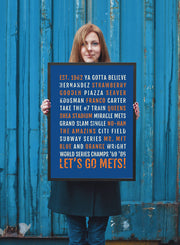 New York Mets Print - NYC Met - NY Subway Poster