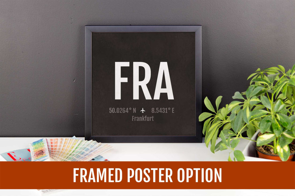 Frankfurt Airport Code Print - FRA Aviation Art - Germany Airplane Nursery Poster