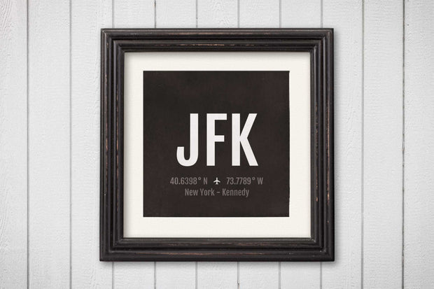 New York City NYC Airport Code Print - JFK Aviation Art - New York Airplane Nursery Poster