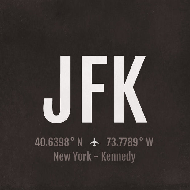 New York City NYC JFK Airport Code Print