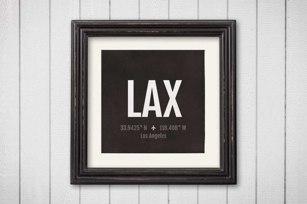 Los Angeles LA Airport Code Print - LAX Aviation Art - California Airplane Nursery Poster