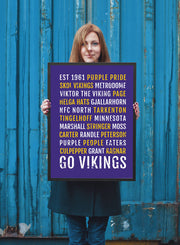 Minnesota Vikings Print - Vikes Viking Subway Poster