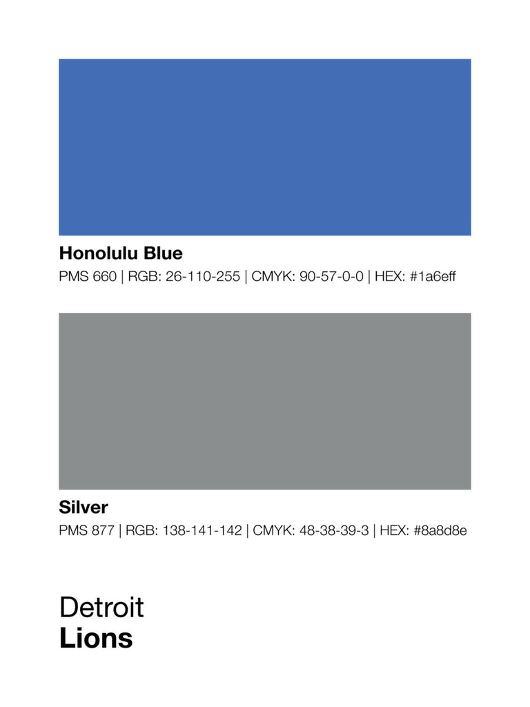 Detroit Lions Colors Print Sproutjam