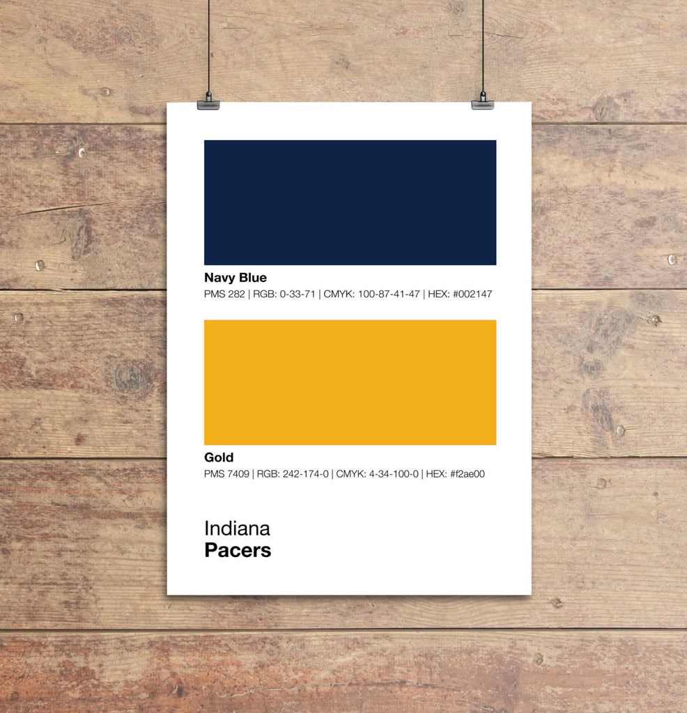Indiana Pacers Colors Print – Sproutjam