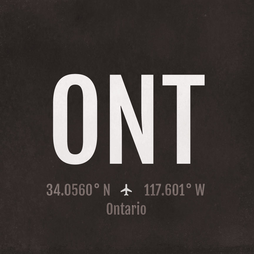 Ontario ONT Airport Code Print