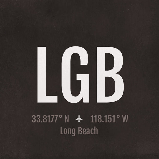 Long Beach LGB Airport Code Print