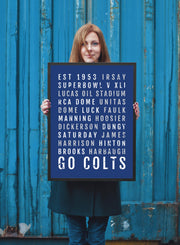 Indianapolis Colts Print - Colt - Subway Poster