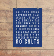 Indianapolis Colts Subway Poster