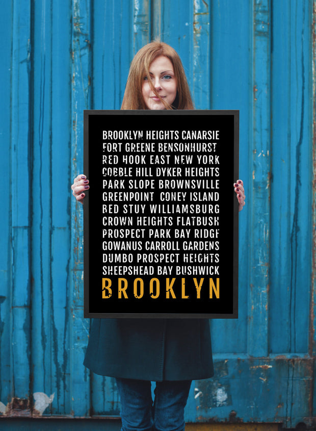 Brooklyn Print - Neighborhoods - Subway Poster