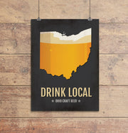 Ohio Beer Print Map
