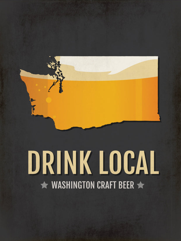 Washington Beer Print Map
