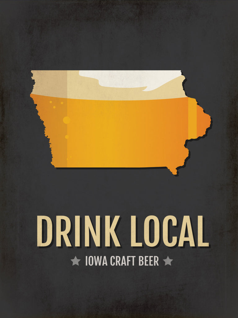 Iowa Beer Print Map