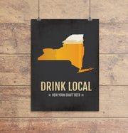 New York Beer Print Map