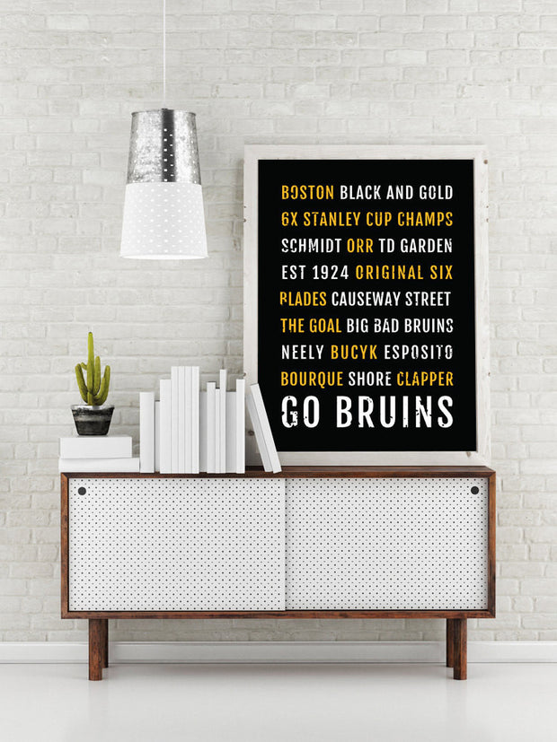 Boston Bruins Print - Bs - Subway Poster
