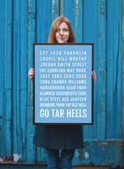 North Carolina Tarheels Print - UNC Tar Heels - Subway Poster
