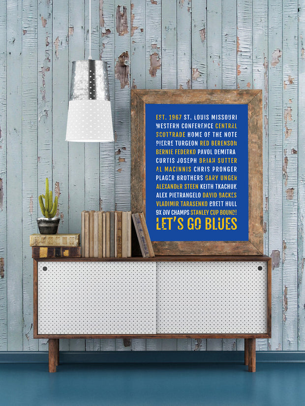 St. Louis Blues Print - Nhl - Subway Poster