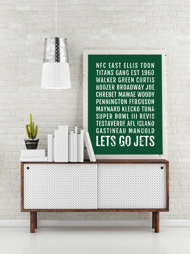 New York Jets Print - NYC Jet - Subway Poster