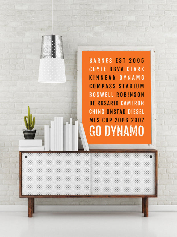 Houston Dynamo Print - Mls - Subway Poster