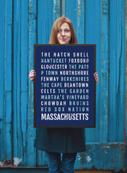 Massachusetts Print - Cities - Subway Poster