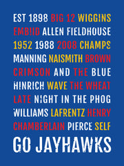 Kansas Jayhawks Subway Poster