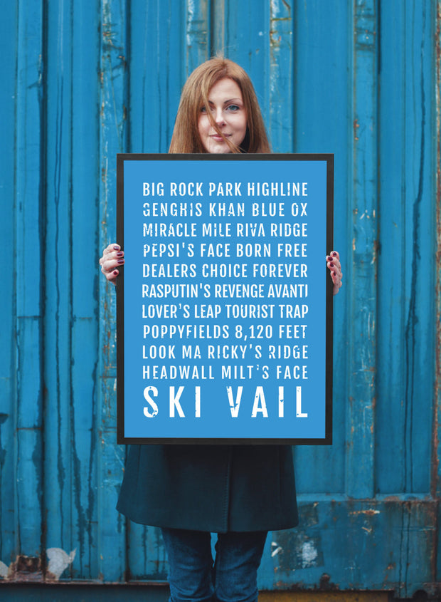Ski Vail Poster - Colorado Ski And Skiing - Subway Poster