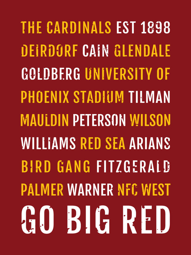 Arizona Cardinals Subway Poster
