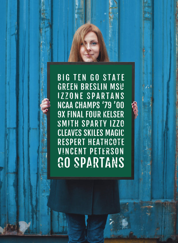 Michigan State Spartans Print - MSU Spartan - Subway Poster