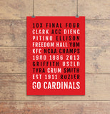 Louisville Cardinals Subway Poster