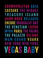 Las Vegas Hotels and Casinos Subway Poster