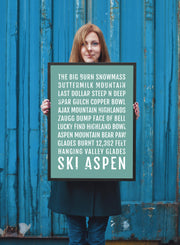 Ski Aspen Poster - Colorado Ski And Skiing - Subway Poster
