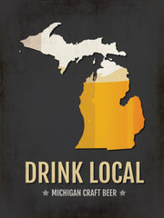 Michigan Beer Print Map