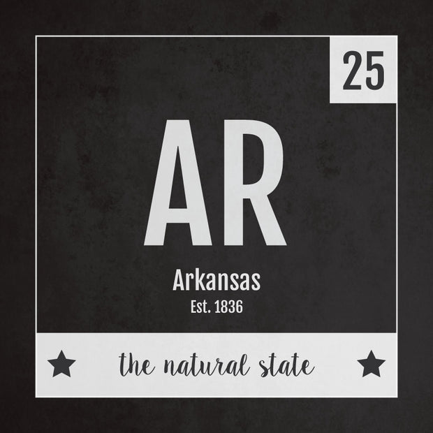 Arkansas US State Print