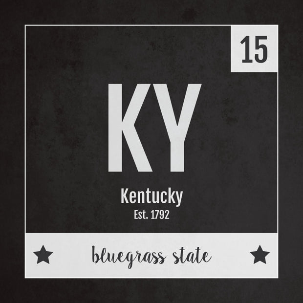 Kentucky US State Print