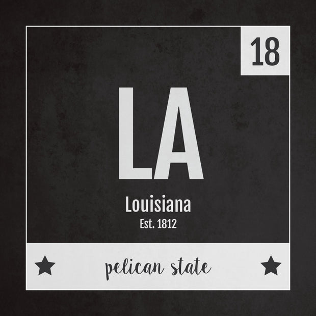 Louisiana US State Print