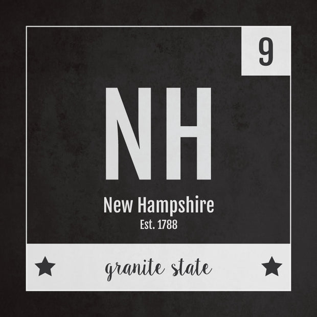 New Hampshire US State Print