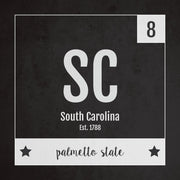 South Carolina US State Print