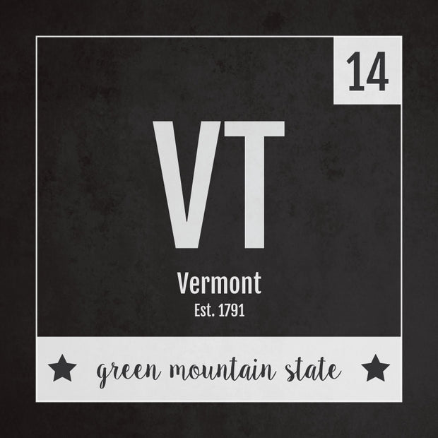 Vermont US State Print