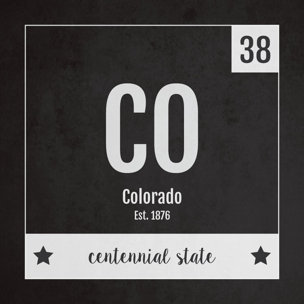 Colorado US State Print