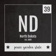 North Dakota US State Print