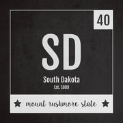 South Dakota US State Print