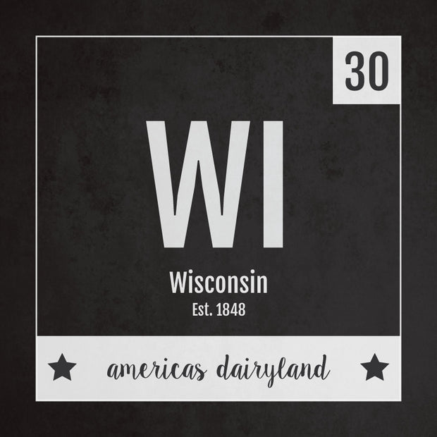 Wisconsin US State Print