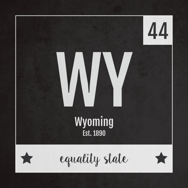 Wyoming US State Print
