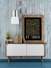 St Louis Print - Neighborhoods - Subway Poster