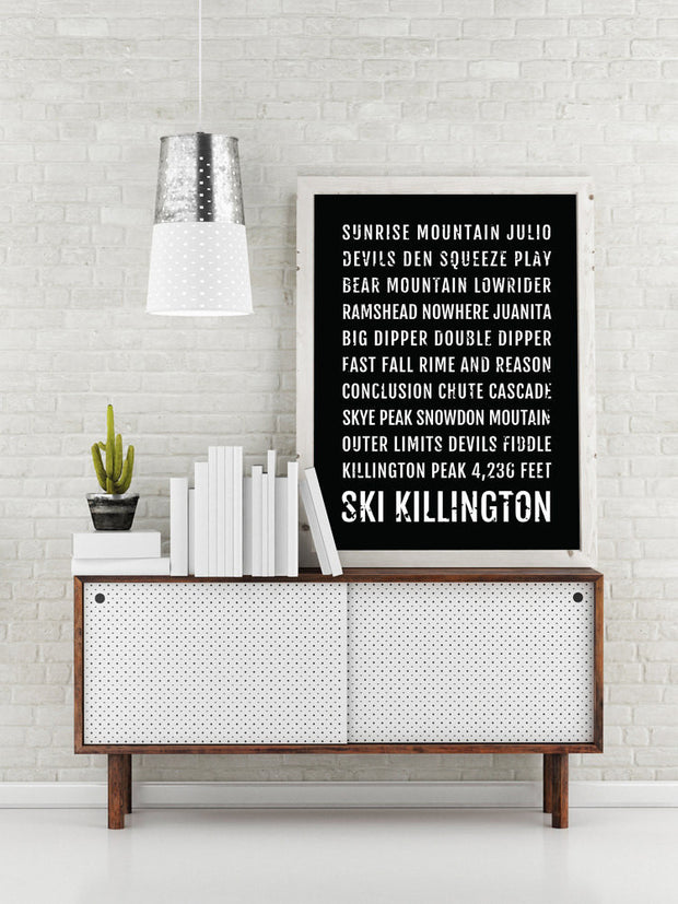 Ski Killington Poster - Vermont Ski And Skiing - Subway Poster