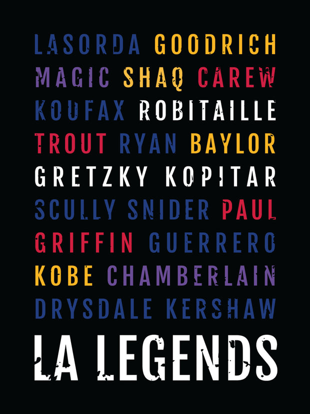 Los Angeles Legends Subway Poster