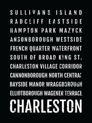 Charleston Neighborhoods Subway Poster