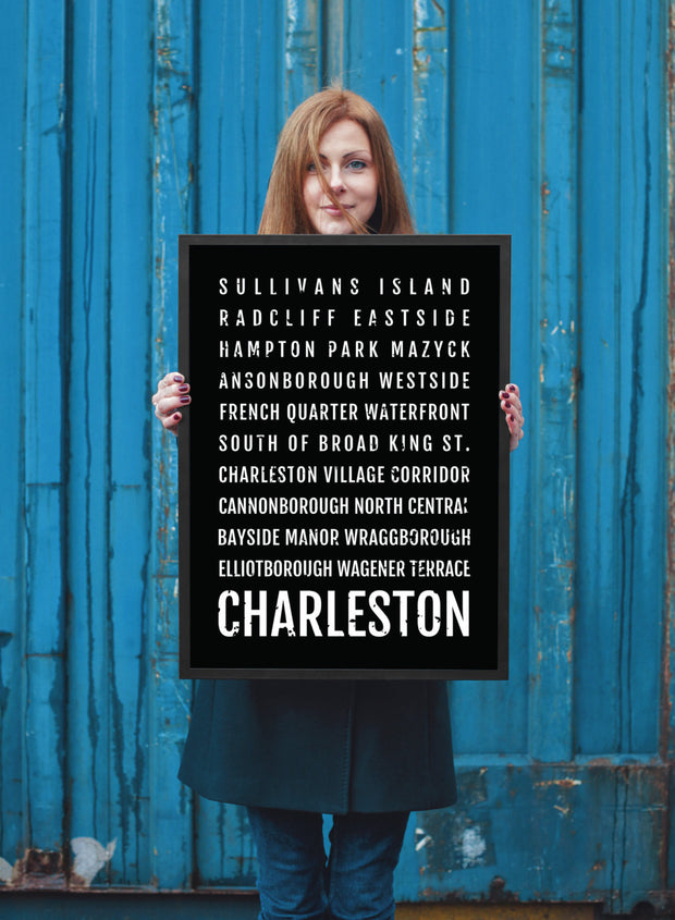 Charleston Print - Neighborhoods - Subway Poster
