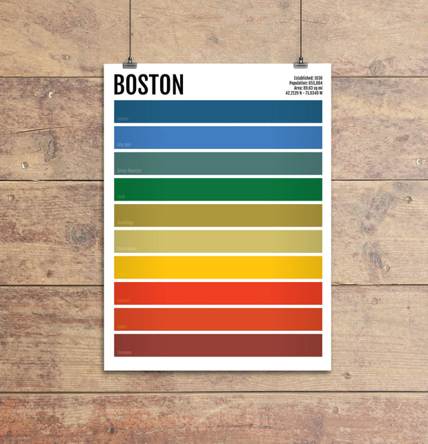 Boston Iconic Colors Print