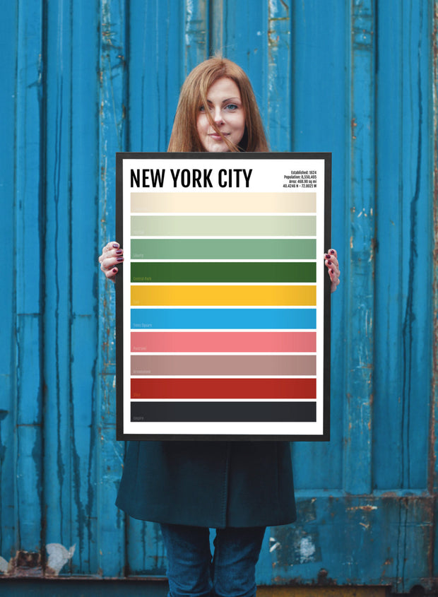New York City Minimalist Print - NYC Minimal Poster - Wall Art