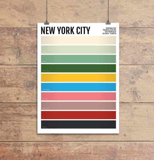 New York City Iconic Colors Print